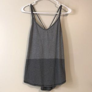 Lululemon Breezy Tank - grey striped